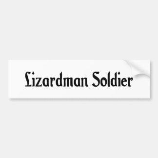 Lizardman Soldier Bumper Sticker