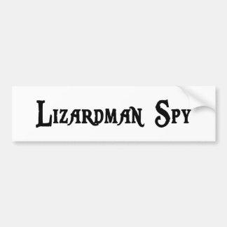 Lizardman Spy Bumper Sticker