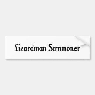 Lizardman Summoner Bumper Sticker