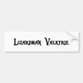 Lizardman Valkyrie Bumper Sticker