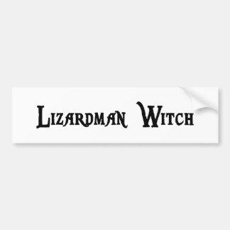 Lizardman Witch Bumper Sticker