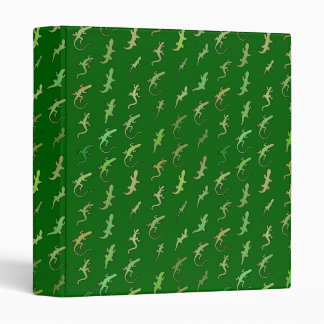 Lizards and Geckos, on pine green Binder