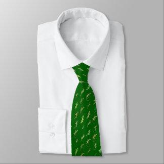 Lizards and Geckos, on pine green Neck Tie