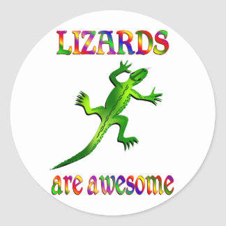 Lizards are Awesome Round Stickers