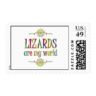 LIZARDS are my world Postage Stamp