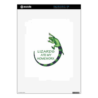 LIZARDS ATE MY HOMEWORK iPad 2 DECALS