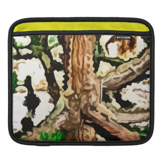 lizards blending in a tree painting sleeve for iPads