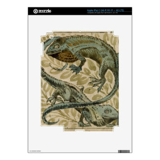 Lizards, design for a tile (w/c on paper) decal for iPad 3