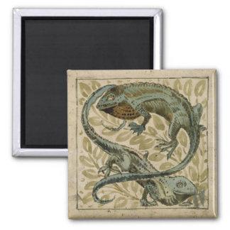 Lizards, design for a tile (w/c on paper) refrigerator magnet