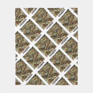 Lizards Ernest Haeckel Artforms Of Nature Fleece Blanket