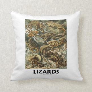 Lizards Ernest Haeckel Artforms Of Nature Pillow