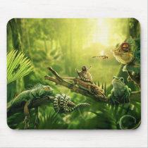 Lizards Frogs Jungle Reptiles Landscape Mouse Pad