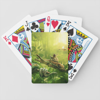 Lizards Frogs Jungle Reptiles Landscape Bicycle Playing Cards