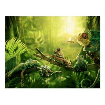 Beauty_of_Nature Lizards Frogs Jungle Reptiles Landscape Postcard