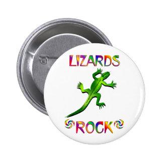 LIZARDS ROCK PINBACK BUTTON