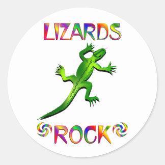 LIZARDS ROCK ROUND STICKERS