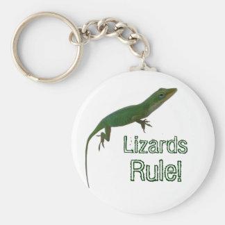 Lizards Rule! Basic Round Button Keychain