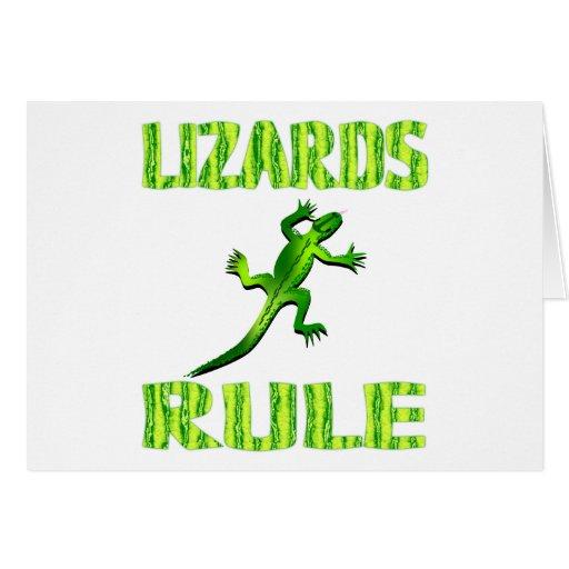 LIZARDS RULE CARD