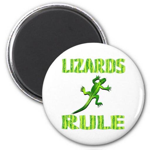 LIZARDS RULE FRIDGE MAGNET