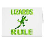LIZARDS RULE GREETING CARD