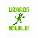 LIZARDS RULE POST CARD