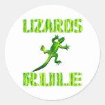 LIZARDS RULE STICKER
