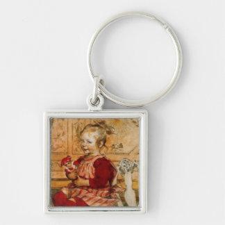 Lizbeth Holding a Doll Keychain