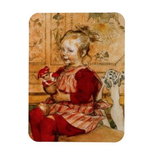 Lizbeth Holding a Doll Magnet