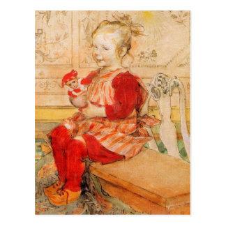 Lizbeth Holding a Doll Postcard