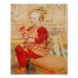 Lizbeth Holding a Doll Poster