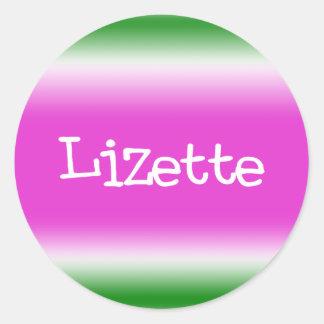 Lizette Classic Round Sticker