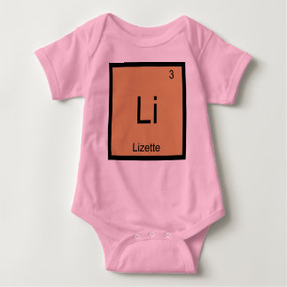 Lizette  Name Chemistry Element Periodic Table Baby Bodysuit