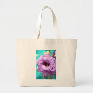 lizyanthus lavendar bolsa lienzo