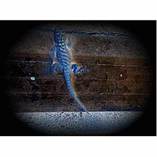Lizzard azul fotoescultura vertical