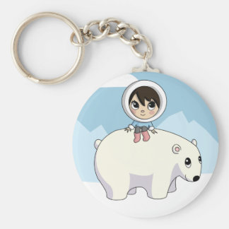 Lizzie and Frosting Basic Round Button Keychain
