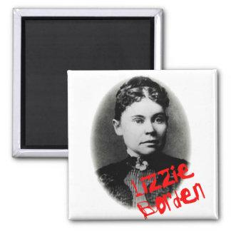 Lizzie Borden 2 Inch Square Magnet