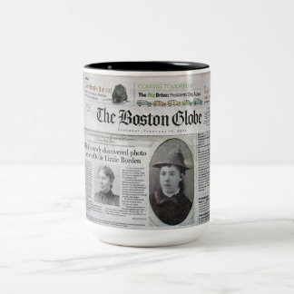 Lizzie Borden In The News Two-Tone Coffee Mug