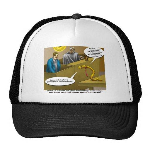 Lizzie Borden Trial Funny Cartoon Gifts Trucker Hat