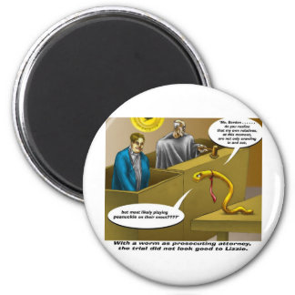 Lizzie Borden Trial Funny Cartoon Gifts Fridge Magnet