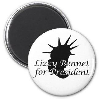 Lizzy Bennet for President Refrigerator Magnet