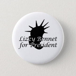 Lizzy Bennet for President Pinback Button