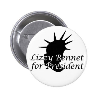 Lizzy Bennet for President Pins