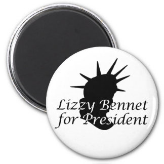 Lizzy Bennet for President Refrigerator Magnet