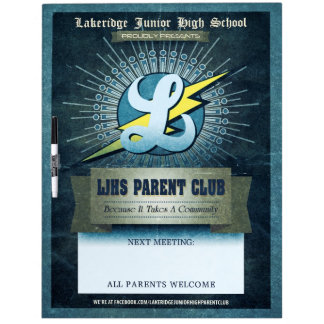 LJHS Parent Club Dry Erase Board