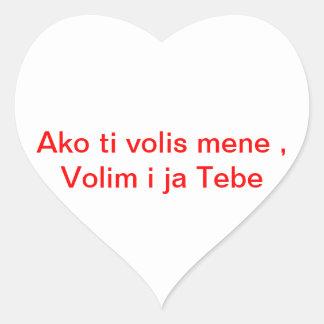 Ljubav Heart Sticker