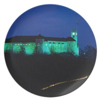 Ljubljana Castle Dinner Plate