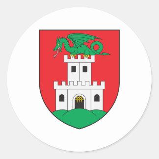 Ljubljana Coat Of Arms Classic Round Sticker