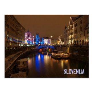 Ljubljana Eslovenia en diciembre Postal