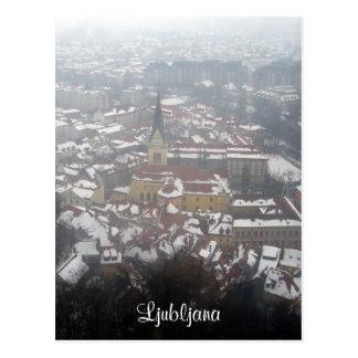 ljubljana winter postcard
