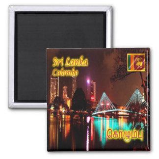 LK - Sri Lanka - Colombo - lago beira en la noche Imán Cuadrado